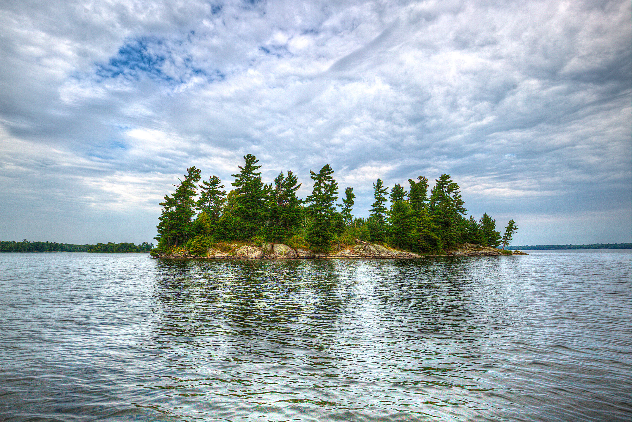 One of many islands in Voyageurs National Park