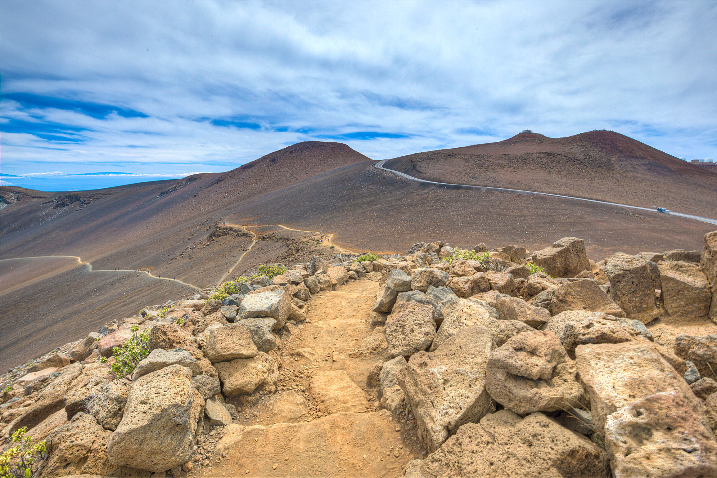 Hiking down to the Haleakala Crater