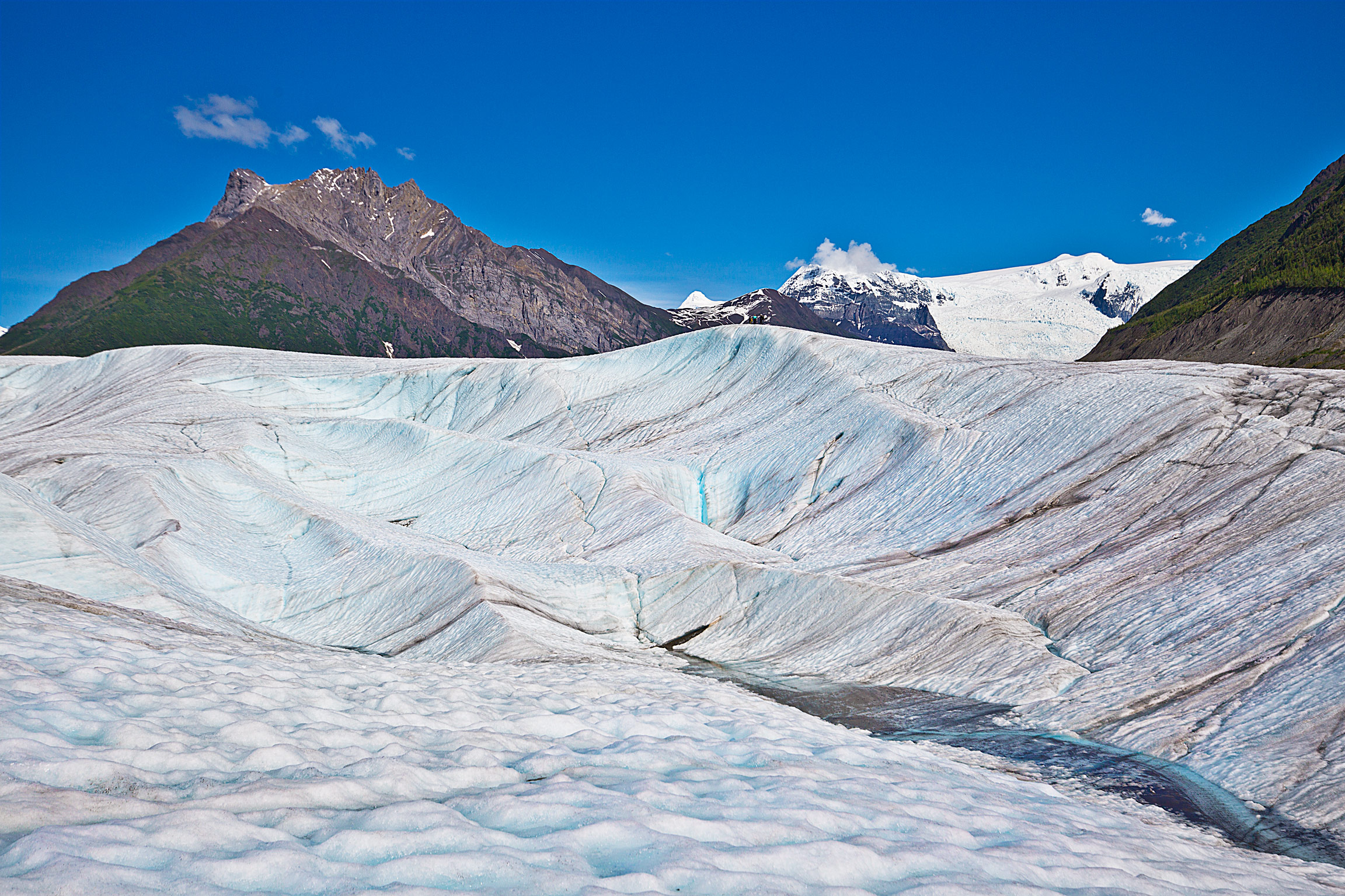 Hiking the Root Glacier near Kennecott