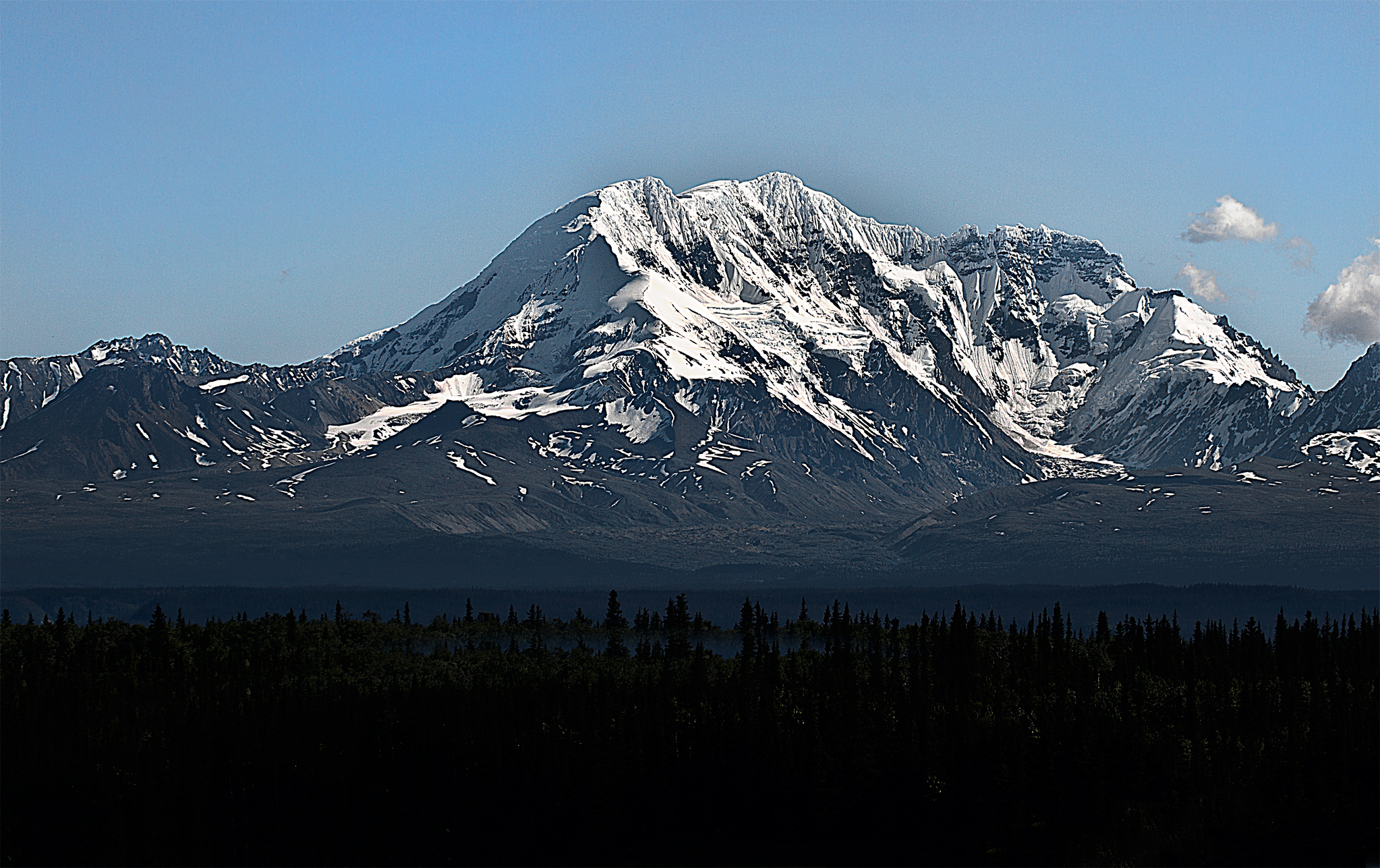 Mt. Wrangell stands alone in Wrangell-St.Elias National Park