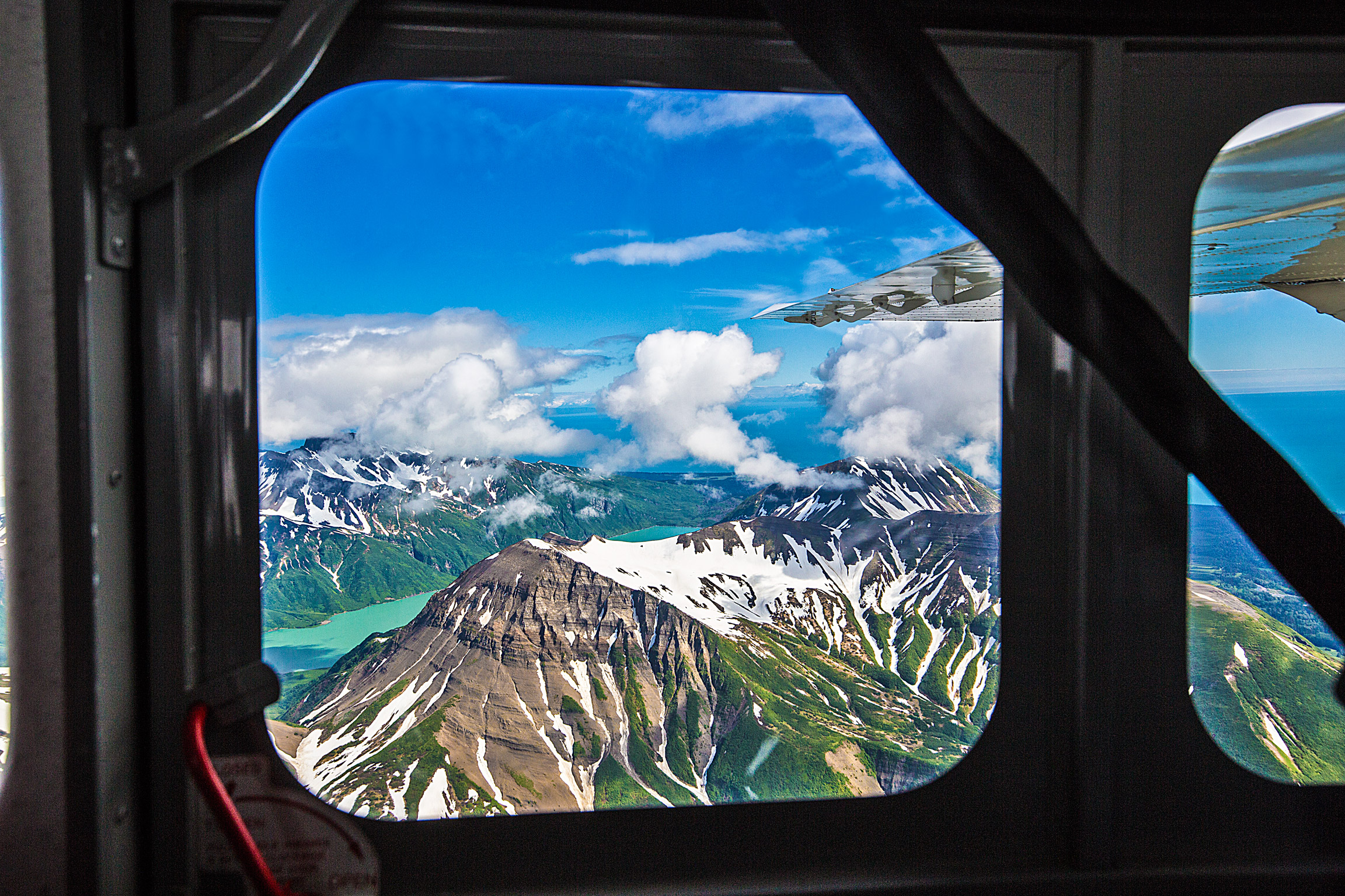 Views of Lake Clark from the Bush Plane