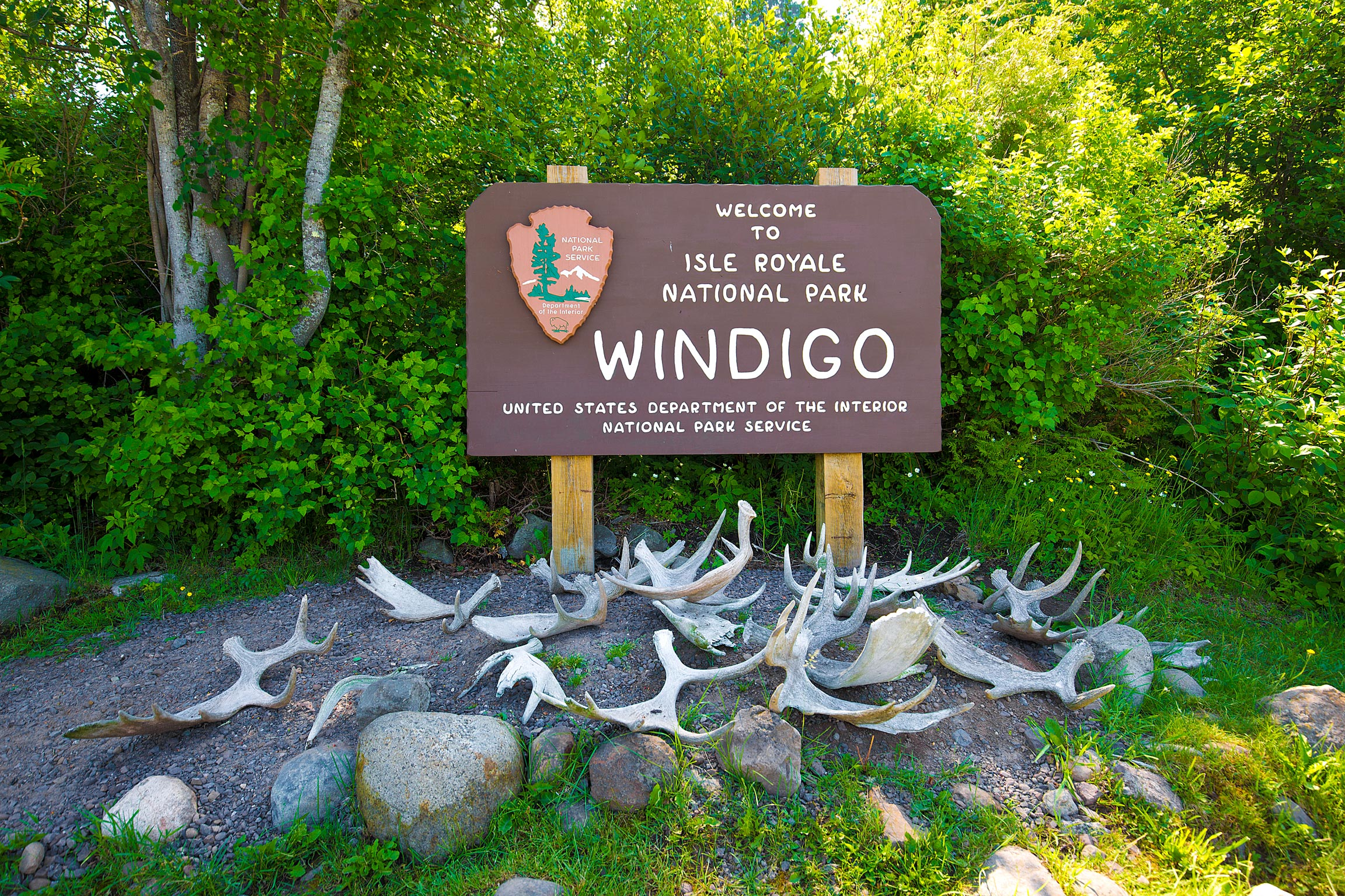 Sign for Windigo in Isle Royale National Park