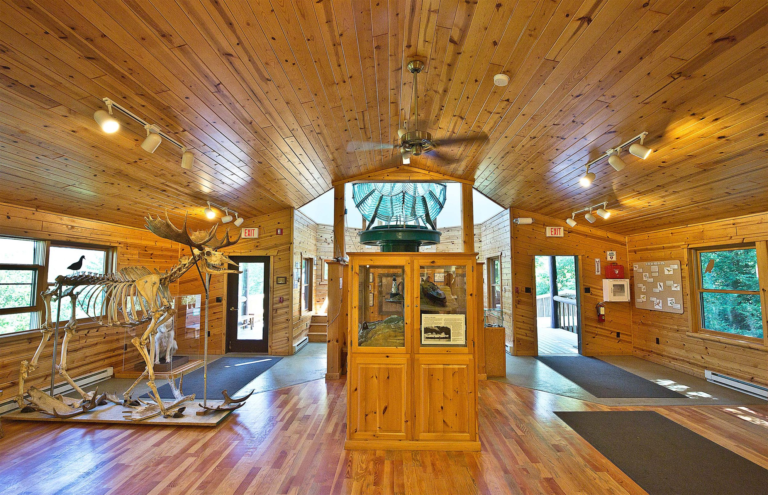 Inside the Windigo Visitors Center in Isle Royale National Park