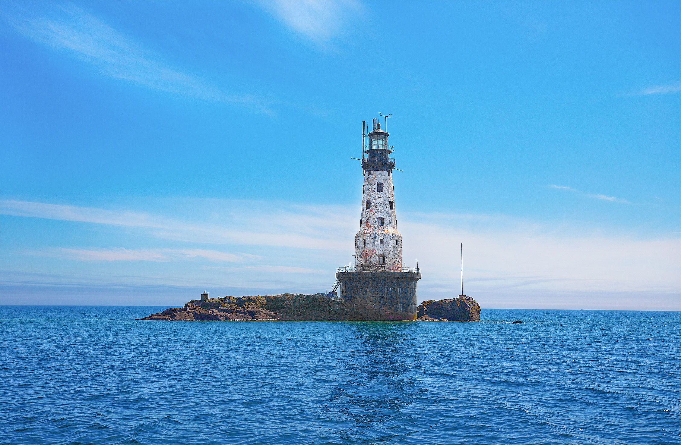 Rock of Ages lighthouse on Lake Superior