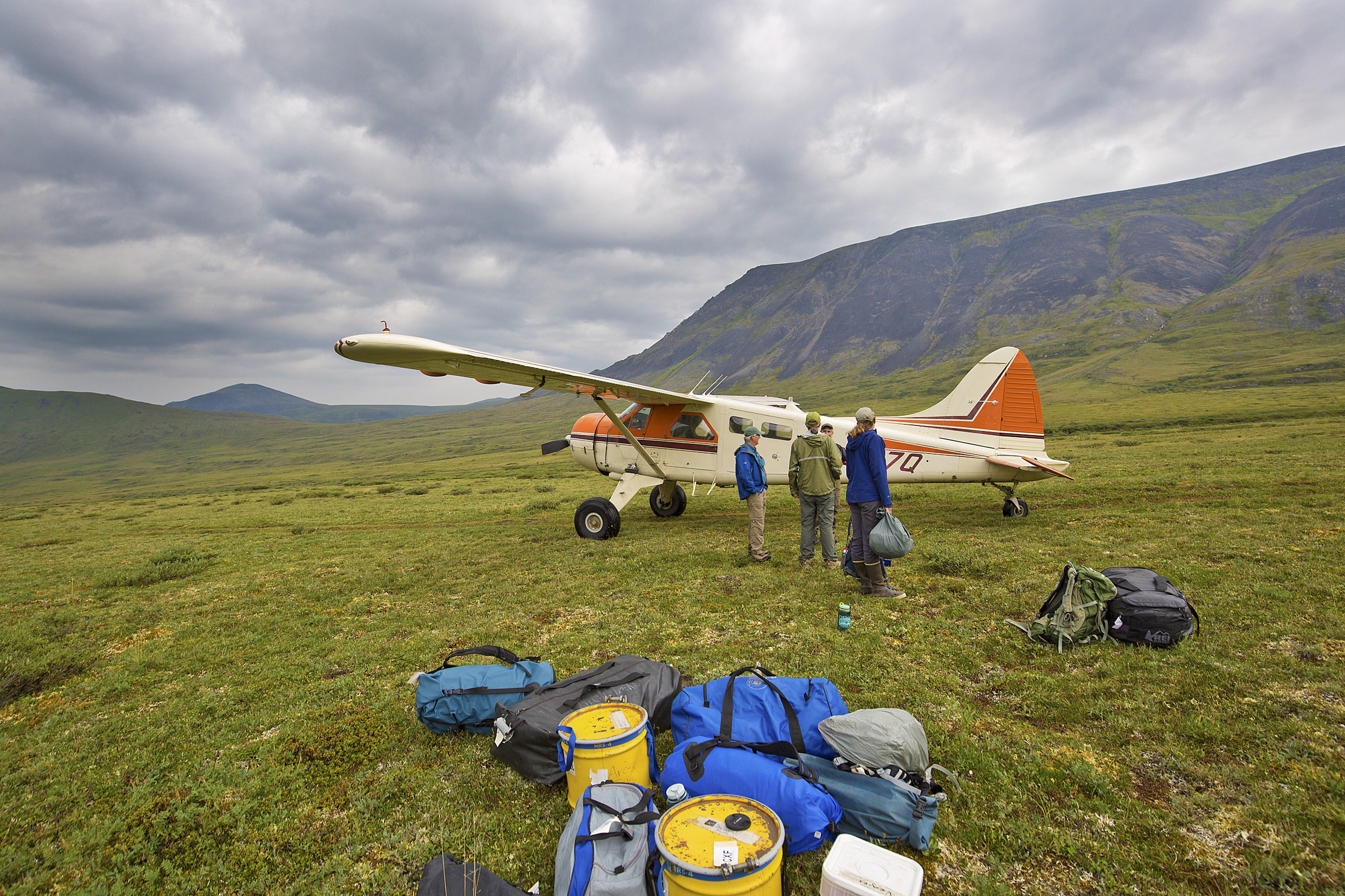 Unloading the Bush Plane in Gates of the Arctic National Park