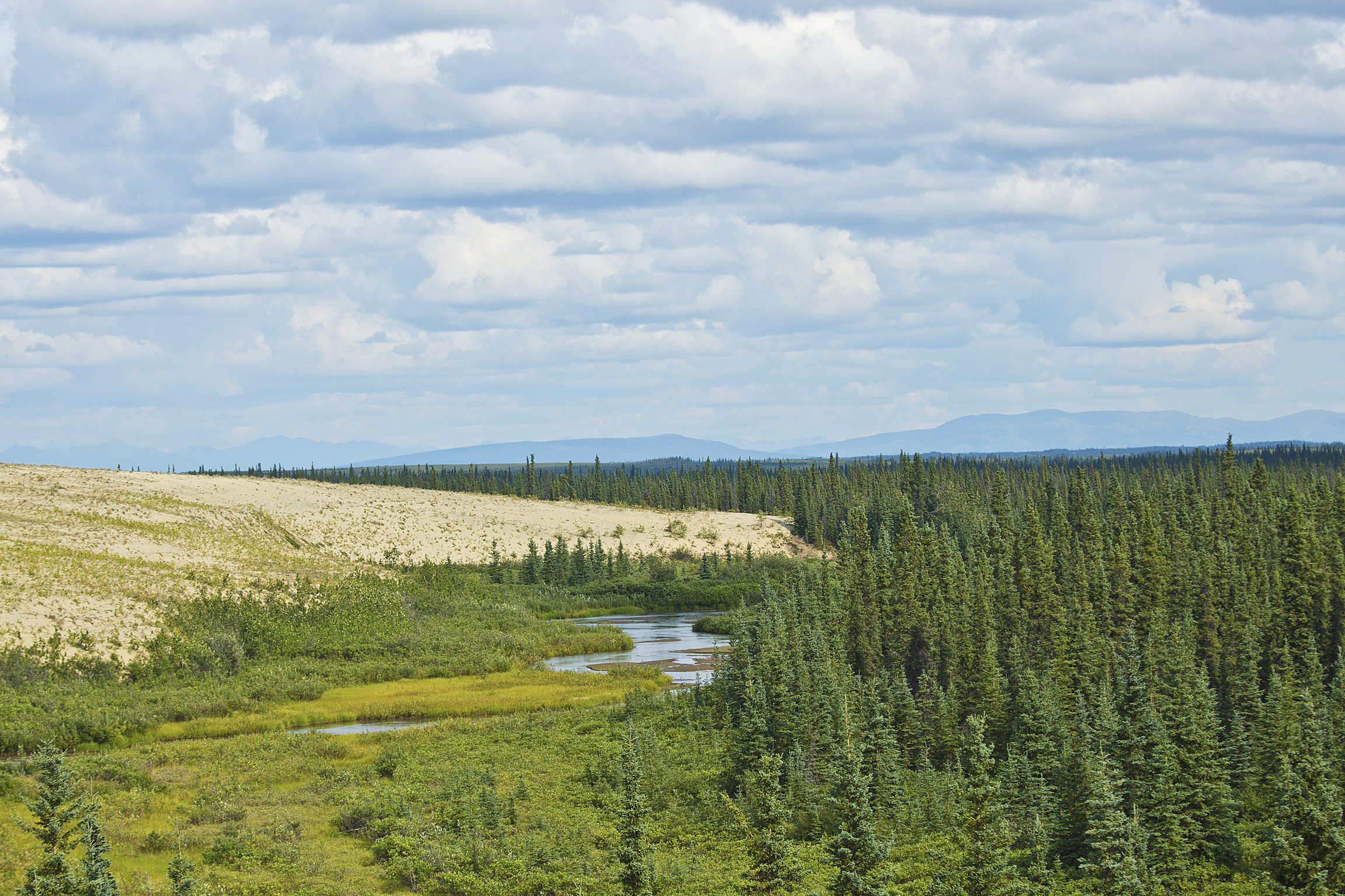 River through the Kobuk Valley sand dunes