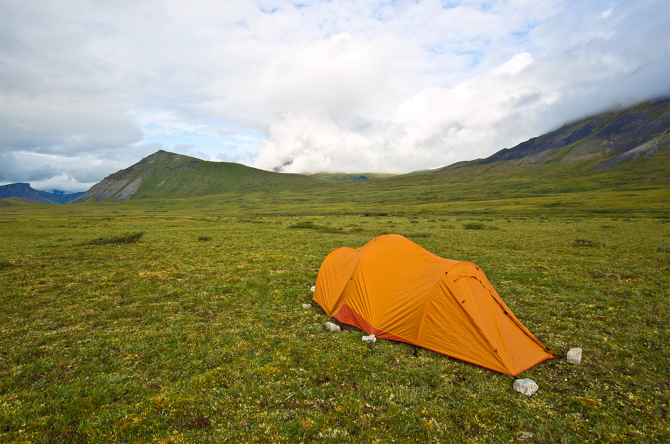 My tent in Gates of the Arctic